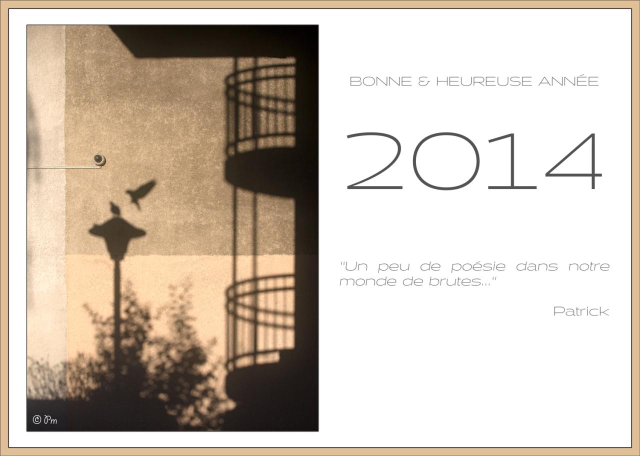 Patrick Manclière - Carte Nouvel An 2014